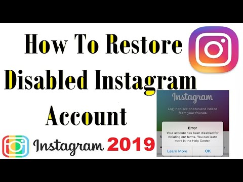 How to Get Back Disabled Instagram Account in 2019 UPDATED