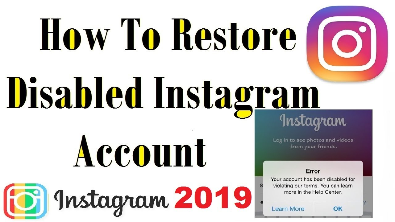How To Get Back Disabled Instagram Account In 2018 Updated 100