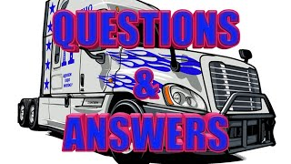 Questions & Answers - CDL - Truck Driving and Truck Training