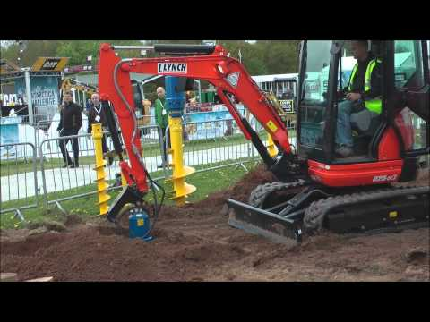 post hole digger hook up stand