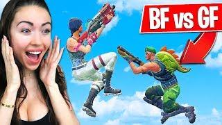 BOYFRIEND vs GIRLFRIEND in Fortnite Playgrounds! (MOBILE vs PC Build Battle)