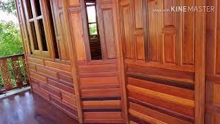 บ้านน็อคดาวห์ทรงไทยประยุกต์ยกสูงเสากลมฝาเฟี้ยมราคา350.000สนใจติดต่อ087-1998311ฟรีส่ง1พันโล