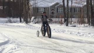 EZ Trainer Bike training wheels with Fat bike