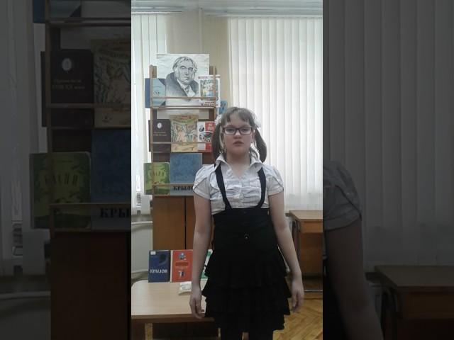 Изображение предпросмотра прочтения – ТатьянаРамицына читает произведение «Ворона и Лисица» И.А.Крылова