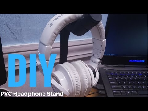 DIY| How To Make  a Headphone Stand From PVC