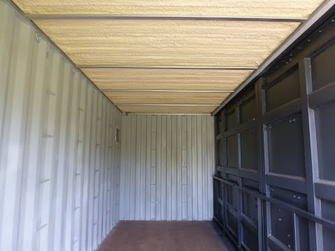 Isolation plafond container maritime / ceiling insulation shipping container