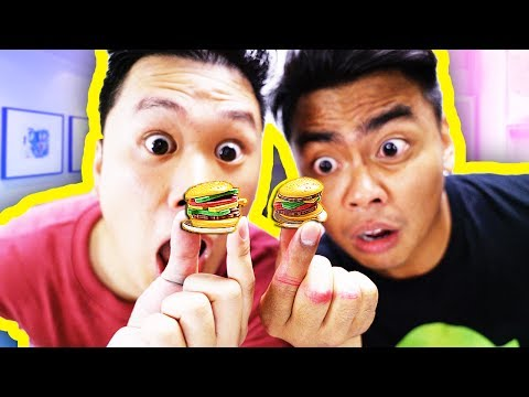 Making The Smallest Mini Burgers You've Ever Seen! (ft. DavidParody)