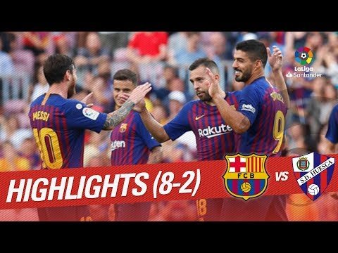 Highlights FC Barcelona vs SD Huesca (8-2)