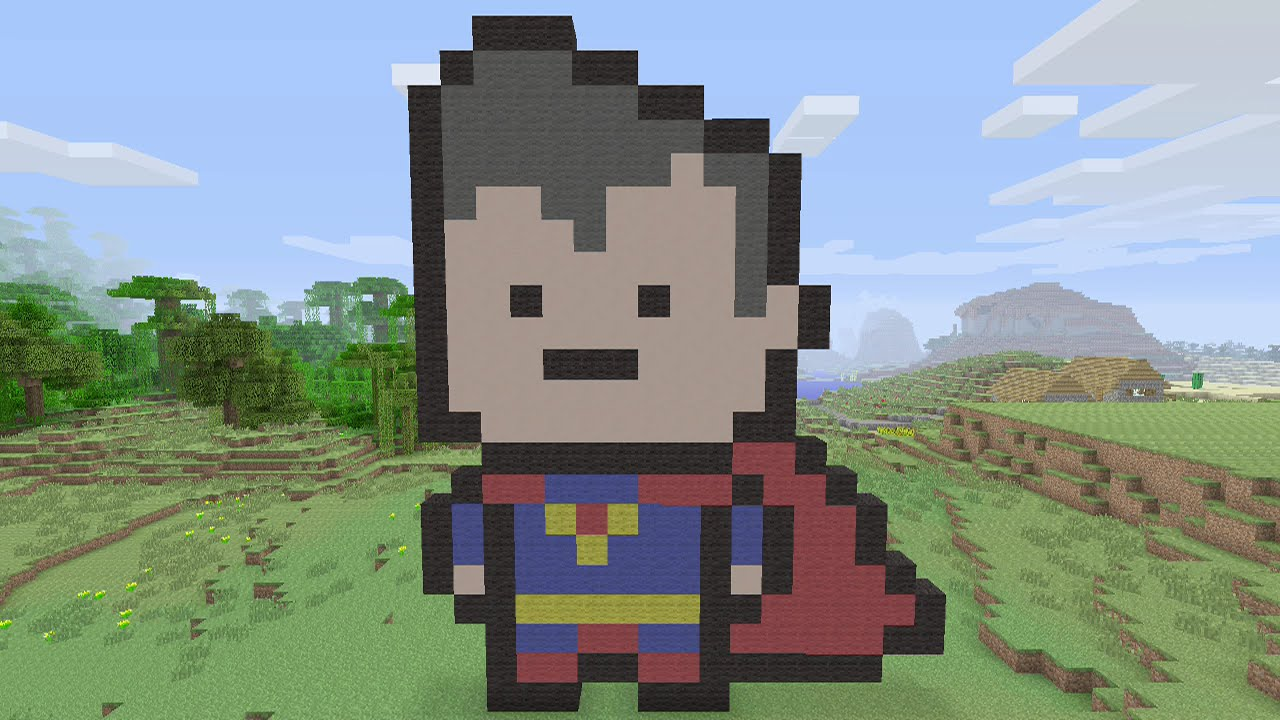 Minecraft Tutorials Joker Pixel Art By Spraggsy