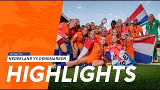 Highlights EK-finale Nederland - Denemarken (6/8/2017)