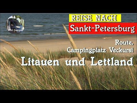 Mit Wohnmobil nach St. Petersburg 4/6, Litauen und Lettland, Route, Campingplatz Veckursi