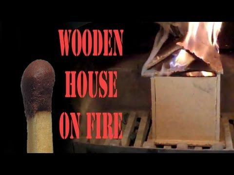 Wooden house on Fire