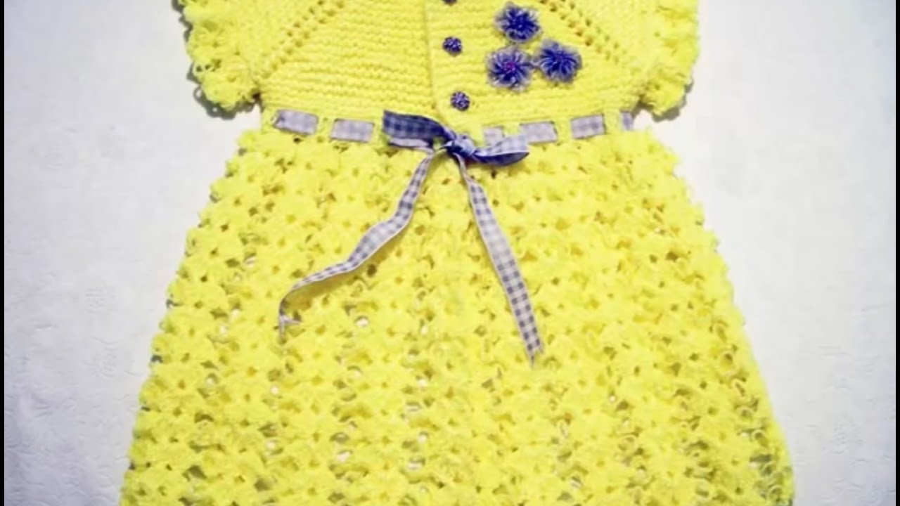 New Design for handmade woolen sweater - one colour baby girl frock ...