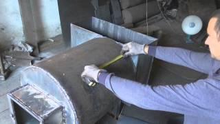 печь для бани из трубы своими руками. 1 часть