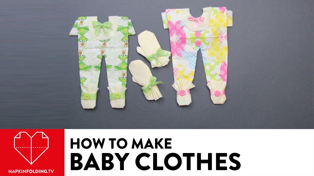 Baby Clothes - DIY Napkin Folding - YouTube