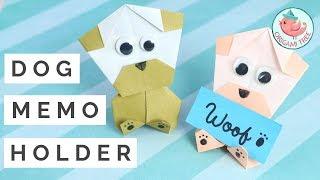 Origami Dog Memo Holder - Easy Paper Crafts!