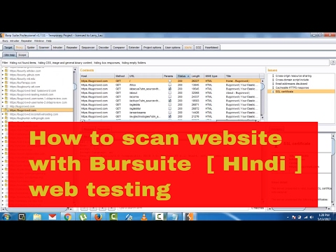 how to scan & hack any website using Burpsuite in [ Hindi ]