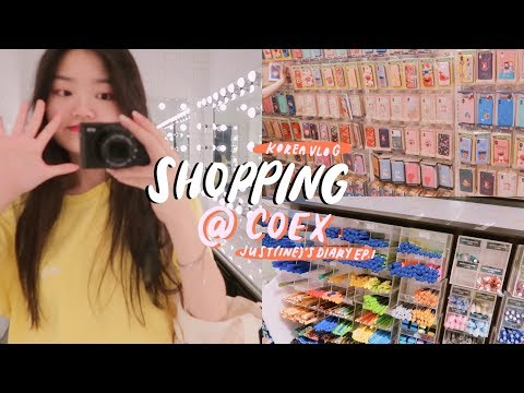 KOREA VLOG : SHOPPING @ COEX MALL 💸JUST(INE)'S DIARY EP.1