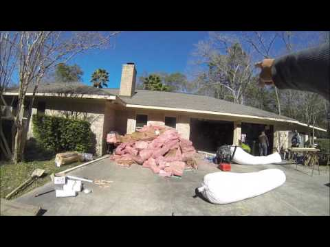 REMOVING ATTIC INSULATION PART 1 OF 2