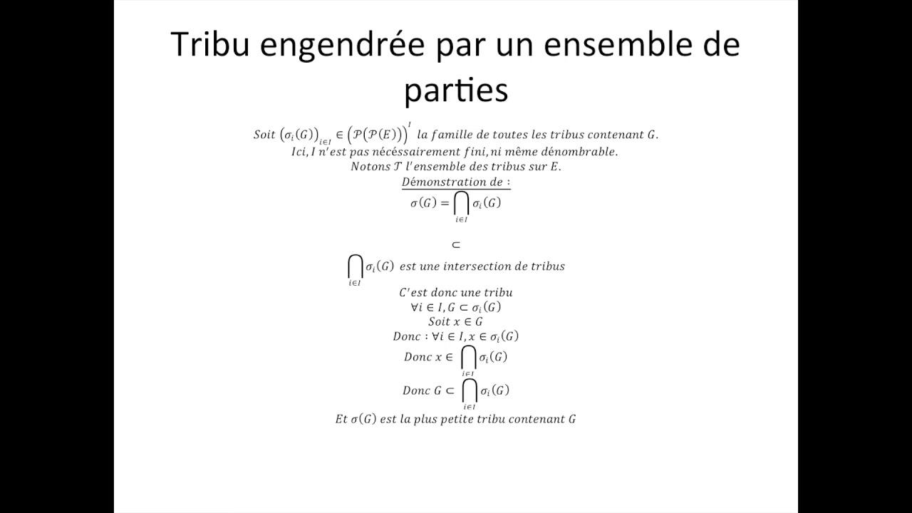 Tribus Partie 5 Tribu Engendree Par Un Ensemble De Parties Youtube