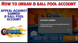 How to open Banned Account How to Appeal Against Banned 8 Ball Pool Account English Urdu Hindi