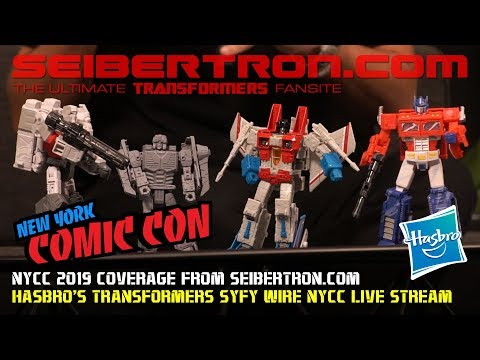 Hasbro's Transformers brand live stream at #NYCC #NYCC2019