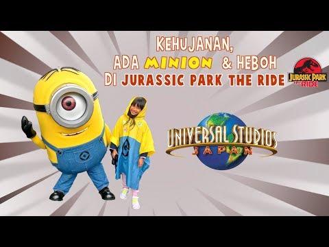 Kehujanann.., ada MINION dan Heboh JURRASIC PARK The Ride di Universal Studios Osaka - Japan