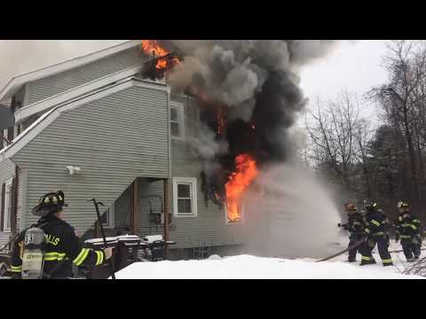*On Scene* South Glens Falls Fire, Working Structure Fire, 2-22-18