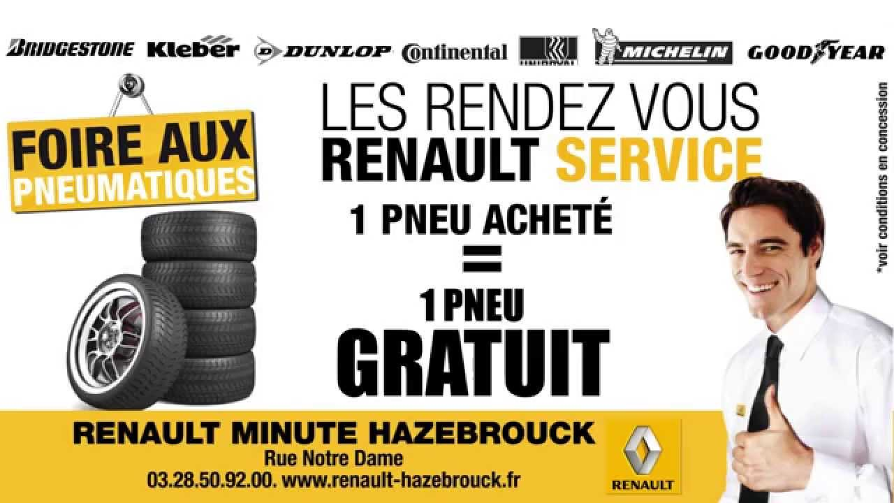 renault hazebrouck foire aux pneus 1 achet 1 gratuit youtube. Black Bedroom Furniture Sets. Home Design Ideas