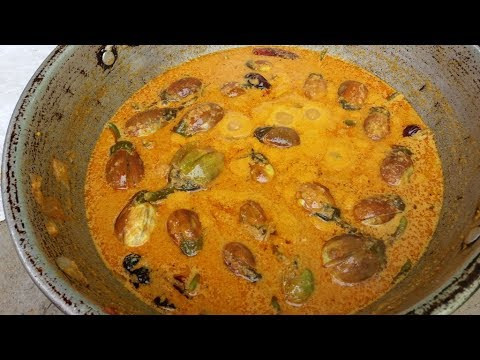 Fresh Organic Brinjal Masala Curry Cooking in My Village - Food Money Food