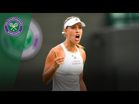 Angelique Kerber v Kirsten Flipkens highlights - Wimbledon 2017 second round