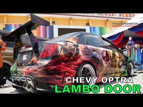 Modified Chevrolet Optra With Lambo Door And Custom Decals | Galeri Kereta