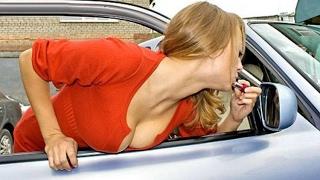 Девушка за рулем приколы - Аварии, ДТП, в Автошколе. Подборка