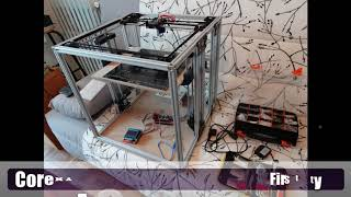 """New printer"" Project : Homemade coreXY 3D-printer"