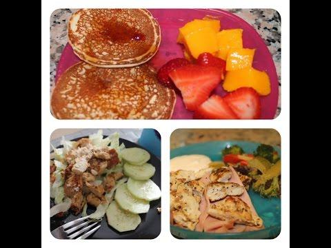 Desayuno,comida y cena saludable para ninos