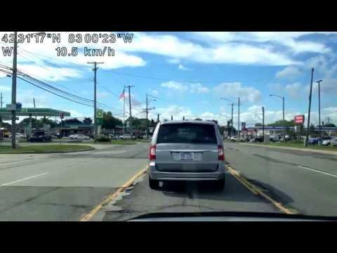 Driving from Warren, Michigan to Detroit, Michigan