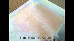 Slate Stone Tile Cleaning -- Grout and Tile Cleaning - Pebble Beach, Carmel, Monterey CA