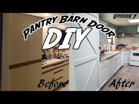 How to Build a Pantry Door | DIY Barn Door | DIY Pantry Door | Refacing  Pantry Door