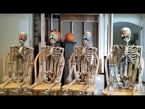 2014 Skull Quartet - Spooky Scary Skeletons