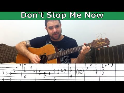 Fingerstyle Tutorial: Don't Stop Me Now - Guitar Lesson W/ TAB