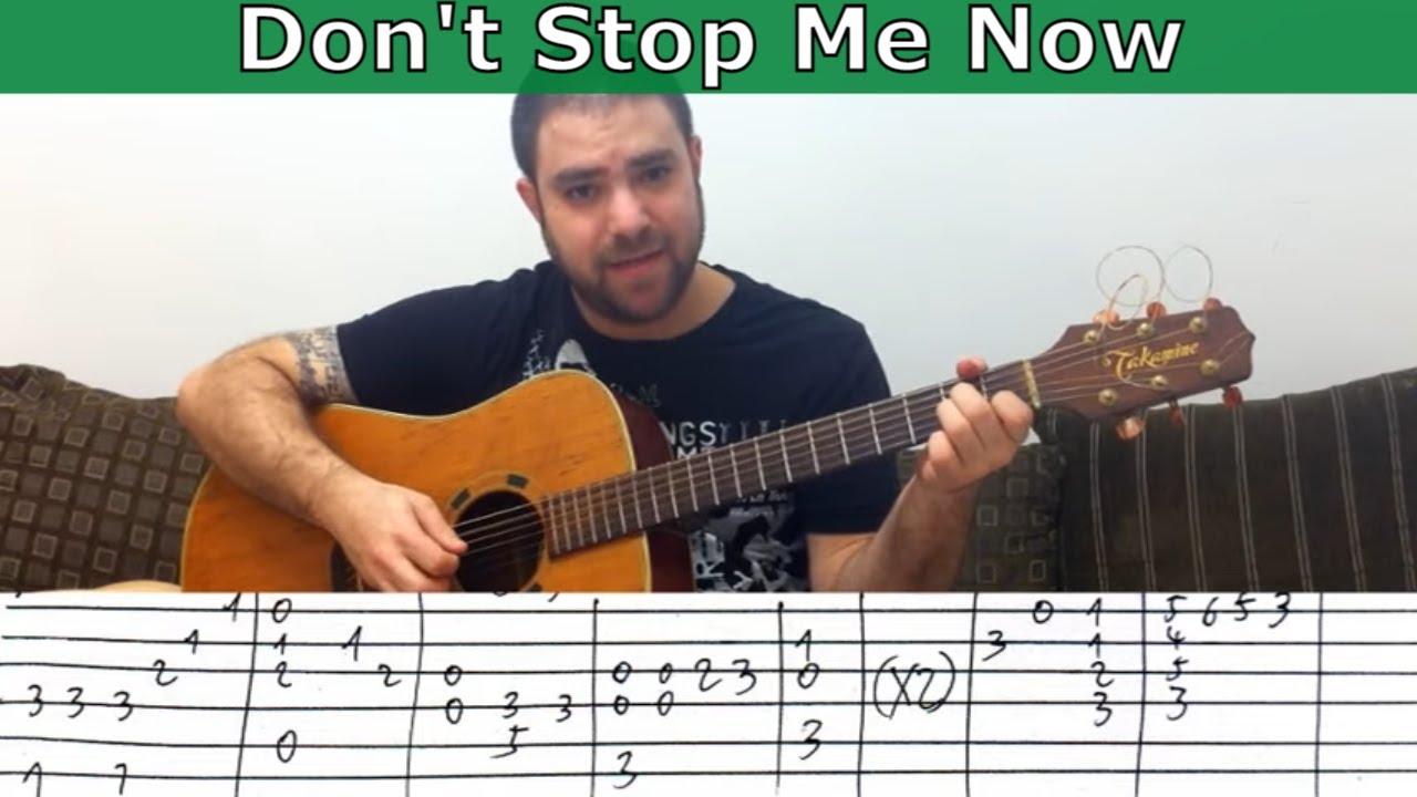 Fingerstyle Tutorial: Don't Stop Me Now - Guitar Lesson w ...