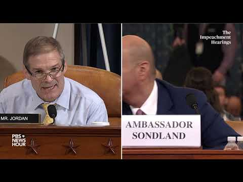 WATCH: Rep. Jim Jordan's full questioning of Gordon Sondland | Trump impeachment hearings