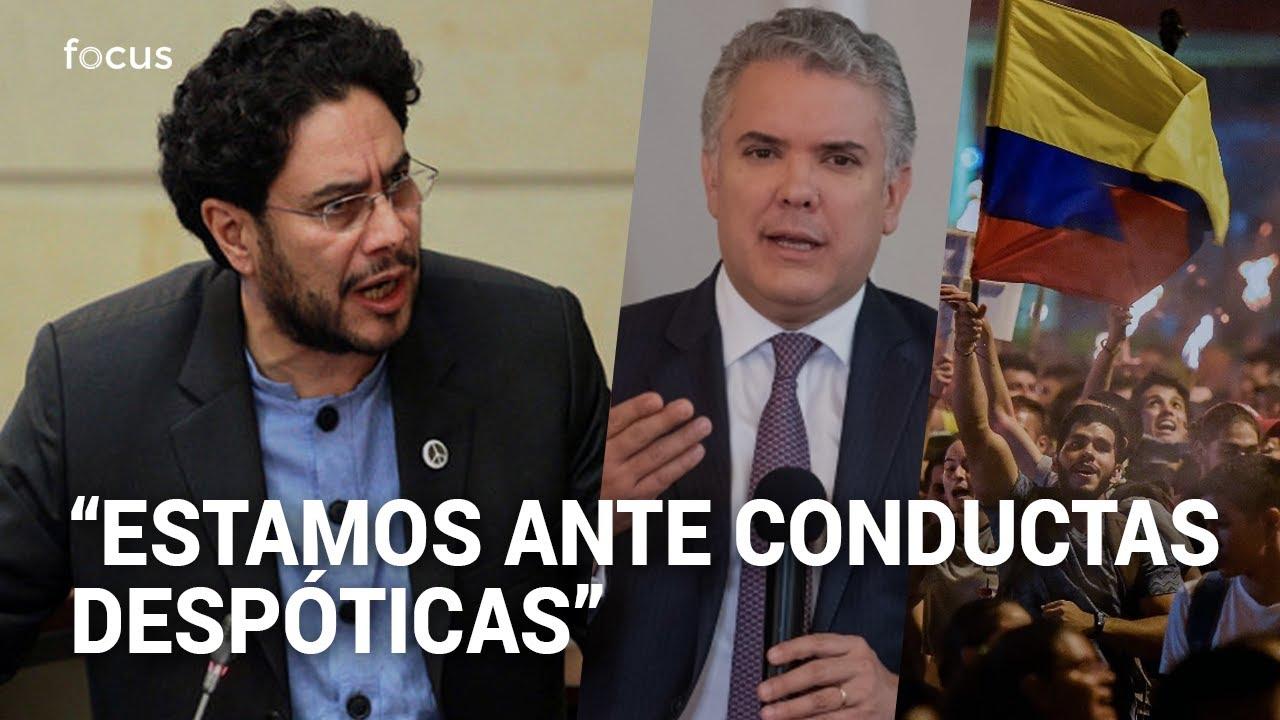 Iván Cepeda denuncia que Duque pretende acudir al Estado de Conmoción Interior