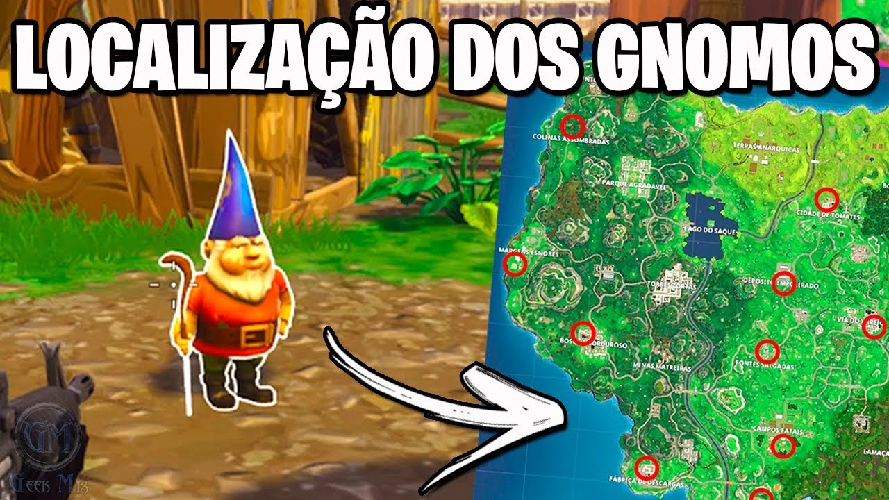 Mapa De Gnomos Fortnite.Localizacao Dos Gnomos Fortnite Battle Royale