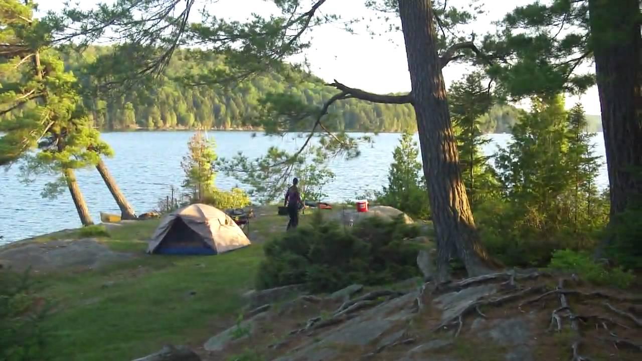 Beautiful Campsite In Algonquin Park Youtube