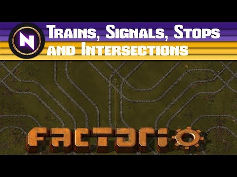 Factorio Engineering - Trains, Signals, Stops and Intersections