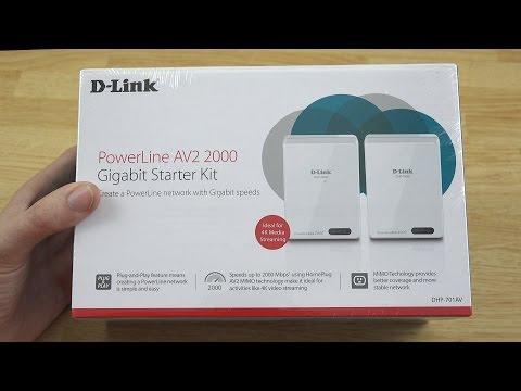 D-Link PowerLine AV2 2000 Gigabit Network Extender Kit DHP-701AV Unboxing!