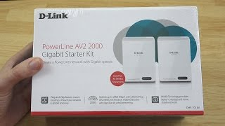 D-Link PowerLine AV2 2000 Gigabit Network Extender Kit DHP-701AV Unboxing!