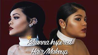 Rihanna Inspired Hair & Makeup