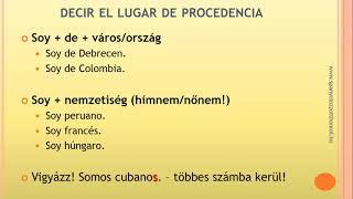 Spanyol kommunikáció - Bemutatkozás